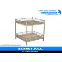 Wholesale 2 Layer Steel Metal Storage Containers / Industrial Metal Wire Baskets from china suppliers