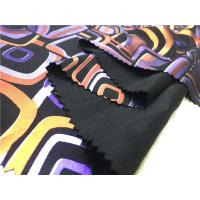 Wholesale Digital Print Lamination Garment Leather Fabric 0.65mm Backing With Suede Fabric from china suppliers