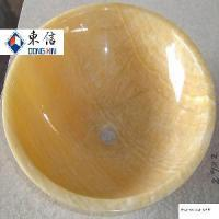 Wholesale Yellow Marble Wash Basin from china suppliers