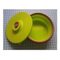 Buy cheap large silicone lunch box collapsible ,fashionable silicone partable lunch bowl from wholesalers