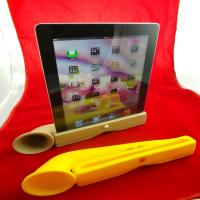 Wholesale Cute Portable Ipad Silicone Skin Case Silicone Horn Stand Amplifier Speaker For Iphone from china suppliers