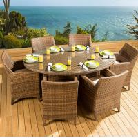 Wholesale Classic outdoor furniture outdoor sitting cheap rattan dining tables and chairs set for 6 seater from china suppliers