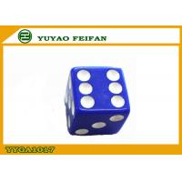 Wholesale ROHS / SGS Acrylic Gambling Blue Poker Dice Set Custom Printed Dice from china suppliers