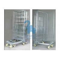 Wholesale Galvanized Wire Mesh Security Cage , Turn Over Type Rolling Security Cage from china suppliers