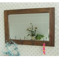 Wholesale Vintage Wooden Bedroom Hook Wall Mirror from china suppliers