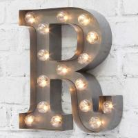 "Wholesale Metal 9"" LED Carnival Lights Letter , LED Word Lights Marquee Battery Operated from china suppliers"