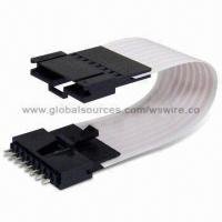 Wholesale 2.54mm (0.100-inch) Flex Cable Jumpers with Tin or Gold Contacts, RoHS Compliant from china suppliers