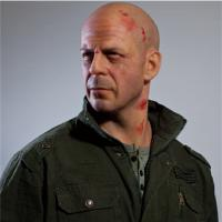 Wholesale High Relastic Celebrity Wax Figures Bruce Willis Die Hard 4.0 from china suppliers