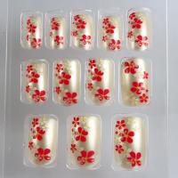 Wholesale Gel / Acrylic Salon Fake Nails Flower Pattern Press Nail For Christmas from china suppliers