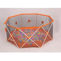 Wholesale Babies Products Fold Down Lightweight Portable Play Yard For Babies , Orange from china suppliers