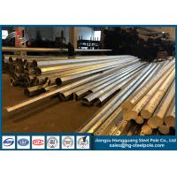 China Hot Roll Steel Sheet Metal Fabrication Electric Power Pole Overlap / Flange Connection on sale