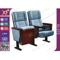 Buy cheap Split Type Back Rest Auditorium Chair Plain Design With Sewing Logos from wholesalers