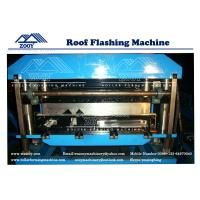 Wholesale 0.3mm - 0.8mm Thickness Roof Flashing Panel Roll Forming Machine from china suppliers