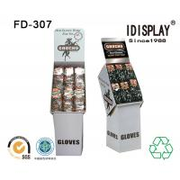 Wholesale Big Pocket  Merchandising Floor Standing Corrugated Display Stand For Gloves from china suppliers