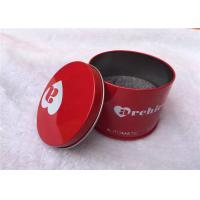 Wholesale Red Recycled Square Tin Containers With Lids , Matt Lamination Surface from china suppliers