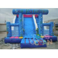 Wholesale Blue Playground Adult Inflatable Slides 3 Lanes For Sea Paradises from china suppliers