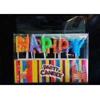 Wholesale Glitter Letter Shaped Birthday Candles Colorful Wax Material With Plastic Stick from china suppliers