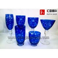 Wholesale engraved glasses, 6 shapes, cobalt, tableware, from china suppliers