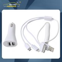 Wholesale 2.1A USB Car Power Charger Adapter Plug with Multipurple Charging Cable from china suppliers