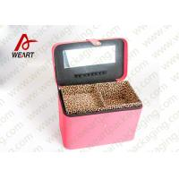 Wholesale Leopard Printed Cosmetics Foldable Paper Box With Mirror Matte Lamination Suface from china suppliers