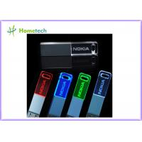 Wholesale 3D customized logo crystal glass 8gb usb flash drive 2.0 to 3.0 with led light from china suppliers