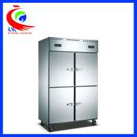 Wholesale Dual temperature display upright Refrigeration Equipment stainless steel ventilated 4 doors 220v from china suppliers