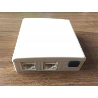 Wholesale RJ11 / RJ45 3 Port Faceplate , White SC Fiber Optic Faceplate For Indoor from china suppliers