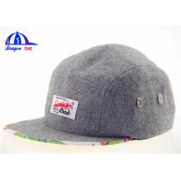 Wholesale Mixed Wool 5 Panel Camp Cap Snapback Caps from china suppliers