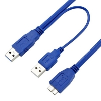 Wholesale Double Head Micro B To USB 3.0 Charging Cable 0.6m PVC Hard Disk Data Cable from china suppliers
