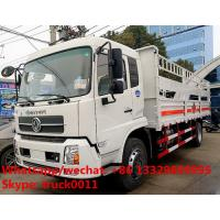 Wholesale dongfeng tianjin 170hp/190hp gas canisters transporting vehicle for sale, best price stake van truck for gas cylinders from china suppliers