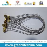 Wholesale Stainless Steel Wire Loop 15cm Length w/Clear Plastic Coated & Copper Cylinder OD9*T5mm from china suppliers