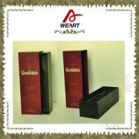 Wholesale Luxury Black Cardboard Paper Wine Top And Bottom Rigid Gift Boxes Without Handle from china suppliers