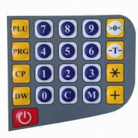 Wholesale Tactile Waterproof Rubber Push Button Membrane Switch , Silicone Rubber Keypads from china suppliers