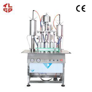 Quality Semi Automatic Aerosol Filling Machine For Perfume / Body Spray / Deodorant Spray for sale