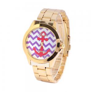 Quality Anchor Dial Women Quartz Wrist Watch Platinum Geneva Gold Watch for sale