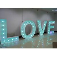 Wholesale Outstanding Wedding Illumiated LOVE Letter / Large Metal Letters With Lights from china suppliers