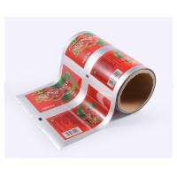Quality Retort Small Sachet Ketchup Sauce Packaging Roll Film for Restaurants , Packaging Laminating Film Rolls for sale