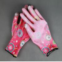 Wholesale 13 gauge PU coated safety working nylon garden glove from china suppliers