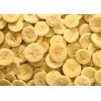 Wholesale 100% Pure Organic Freeze Dried Bananas Fruit Slice 5 - 7mm A Long Shelf Life from china suppliers