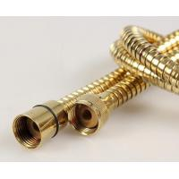 Wholesale stainless steel golden plated flexible shower hose from china suppliers
