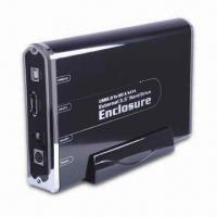 Wholesale 3.5-inch Hard Drive Enclosure, Supports USB 2.0, USB 1.1, and eSATA from china suppliers