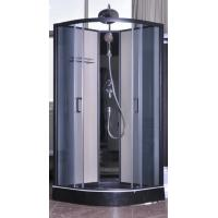 Modern fully enclosed showers units matt black profiles ce for Fully enclosed shower