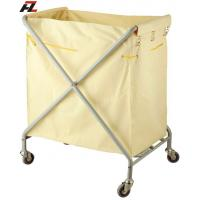 Wholesale Hotel Folding Metal Linen Collection Trolley-Laundry Trolleys from china suppliers