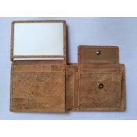 China New style men cork wallet with coin box and card screen on sale