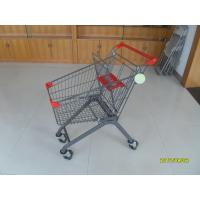 Wholesale 80L Grocery Pull Cart For Boutique Supermarket  With Baby Seat , Grocery Shopping Cart from china suppliers