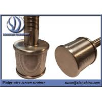 Buy cheap Stainless Steel 316L 0.2mm Filtering Slot Filter Nozzle With Wedge Wire Screen from wholesalers
