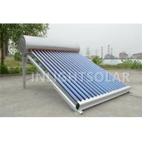 Quality 45 Degree Angle Non Pressurized Solar Water Heater 240L Aluminum Support for sale
