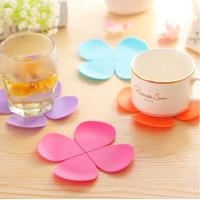 Wholesale FDA Standard High Quality Custom Flower shaped Recycle Silicon Cup coaster from china suppliers