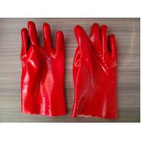 Wholesale Red PVC anti-skidding industrial gloves working gloves from china suppliers