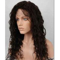 Wholesale Unprocessed 100% Indian Full Lace Human Hair Wigs kinky curly With Baby Hair from china suppliers